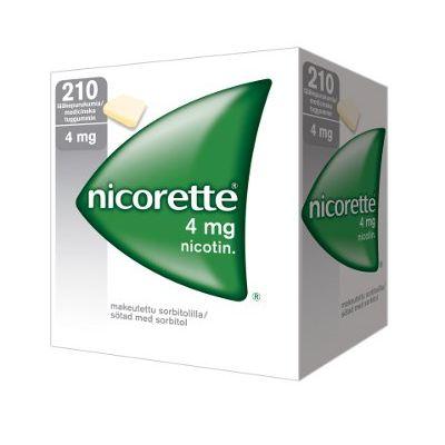 NICORETTE 4 mg lääkepurukumi 210 fol