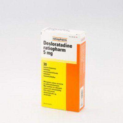 DESLORATADINE RATIOPHARM 5 mg tabl, suussa hajoava 30 fol