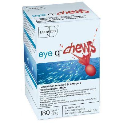 Eye q chews mansikanmakuinen rasvahappovalmiste 180 kpl