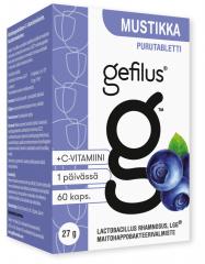 Gefilus Apteekkarin Mustikka purutabl       X60 kpl
