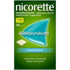 NICORETTE MENTHOLMINT 4 mg lääkepurukumi 30 fol