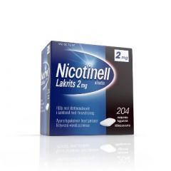 NICOTINELL LAKRITS 2 mg lääkepurukumi 204 fol