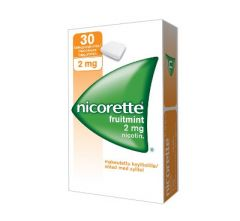 NICORETTE FRUITMINT 2 mg lääkepurukumi 30 fol